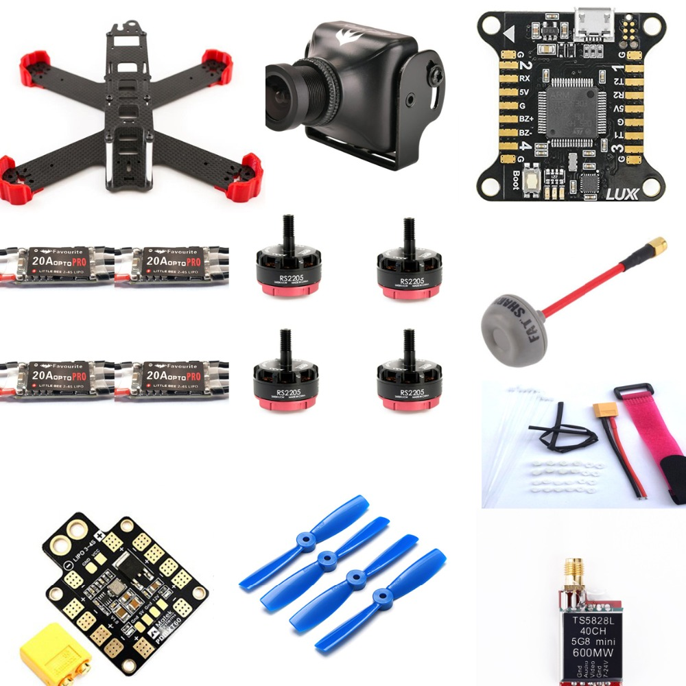 FPV Racing Mini Drone QAV210 FPV Frame Kit With Runcam Swift Camera LittleBee 20A OPTO PRO
