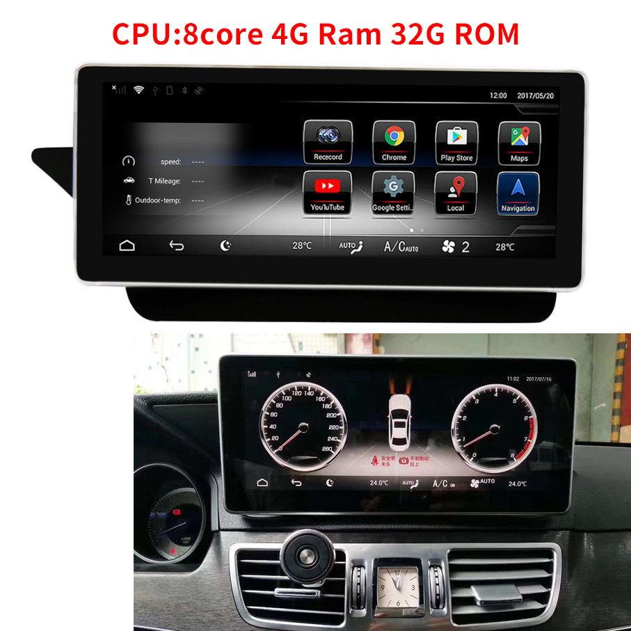 10.25 Android 7.1 Octa Core CPU 4+32G Car Radio GPS Navigation Bluetooth WiFi Head Unit Screen For Mercedes Benz E Class W212