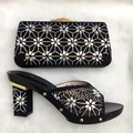 Italian Shoes With Matching Bags For Prom Heel High Quality African Shoes And Bags Set For Wedding Size 37-43 TT06