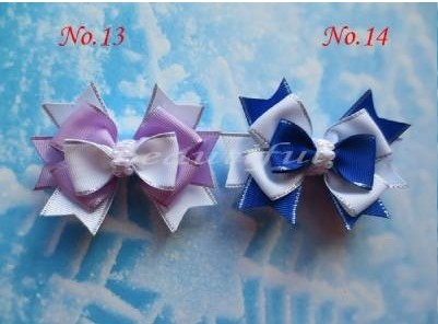 """40pcs wholesales hand customize free shipping BLESSING Good Girl Boutique 3.5"""" Snowflake Hair accessories Bow Clip"""