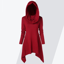 ZAFUL Hoodie Women Hooded Long Sleeve Solid Asymmetrical Knitwear Pullovers Ladies Tops 2018 Winter Spring Hoodies Sweatshirts 1