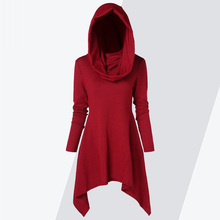 ZAFUL Hoodie Women Hooded Long Sleeve Solid Asymmetrical Knitwear Pullovers Ladi