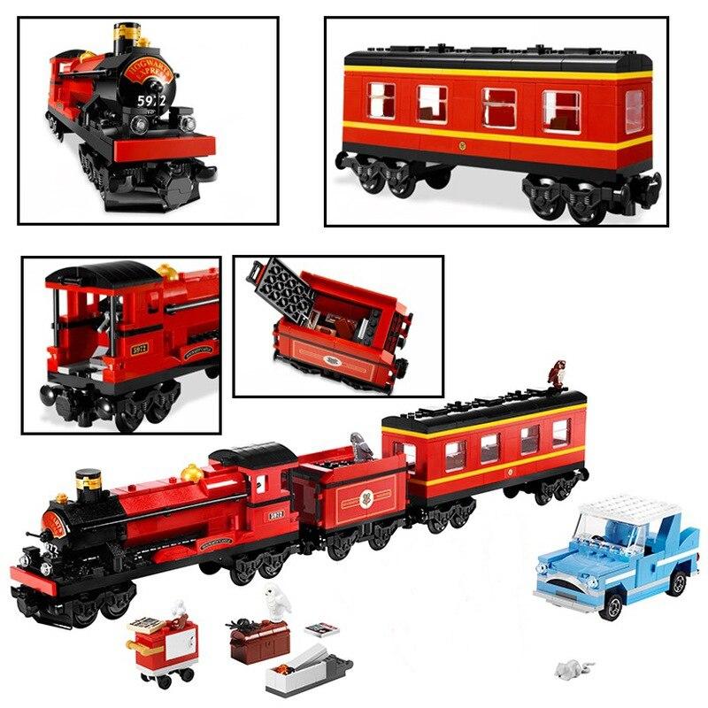 La série de trains de poudlard Express Harri Potter Compatible Harri Potter 4841 blocs de construction Hermione Ron jouets pour enfants cadeaux