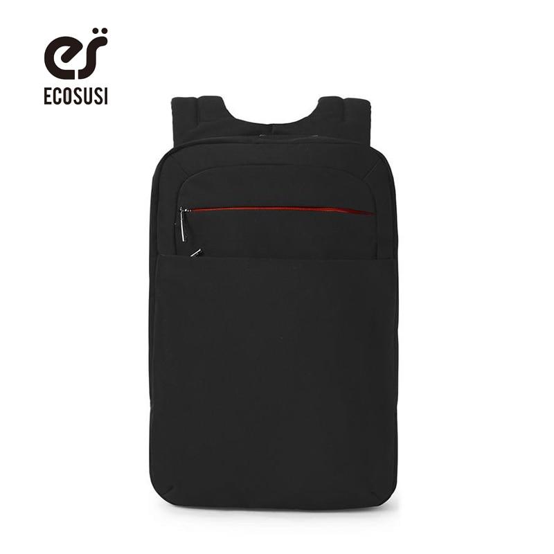 Ecosusi Водонепроницаемый 15.6 Ноутбук Рюкзак Mochila Мужской школьная сумка 15.6 дюймов ...
