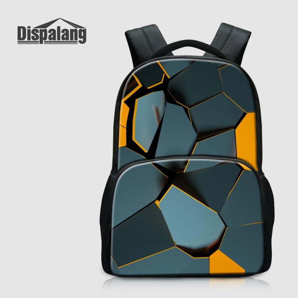 Dispalang Laptop Backpack For Women Mens Travel Bags Broken Geometry Multifunction Kids Rucksack Large School Bags For Teenagers
