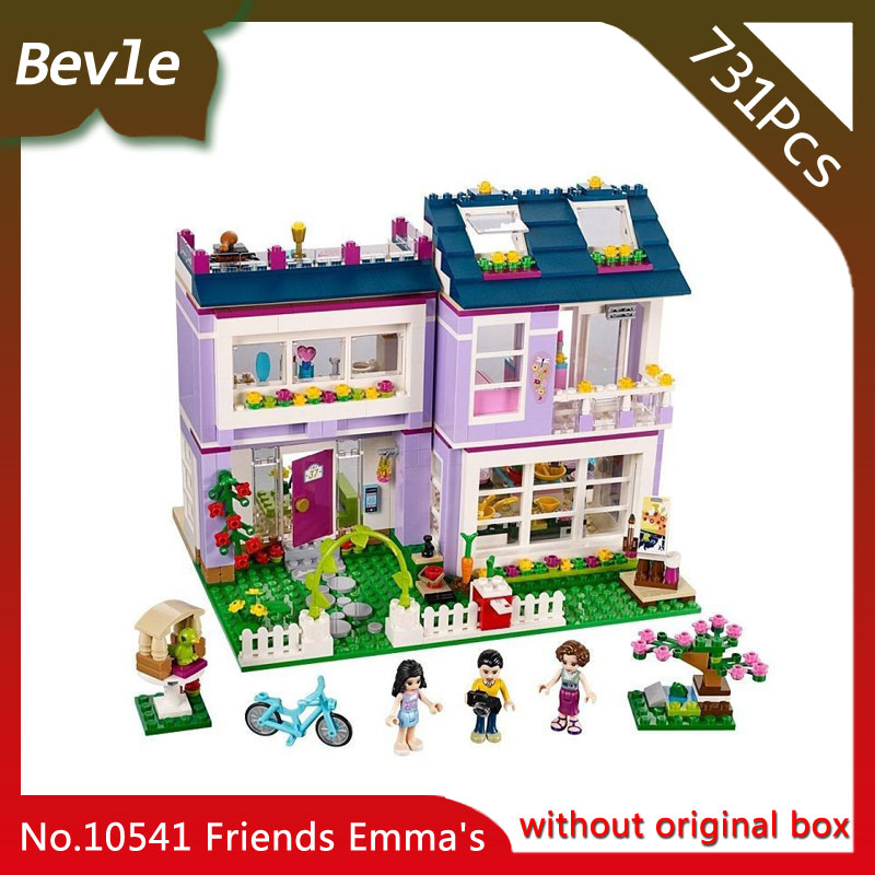 Doinbby Store Bela 10541 731Pcs Friends Series Emma's house Model Building Blocks Bricks with Children Toys  41095 Gift doinbby store  16012 2075pcs movie