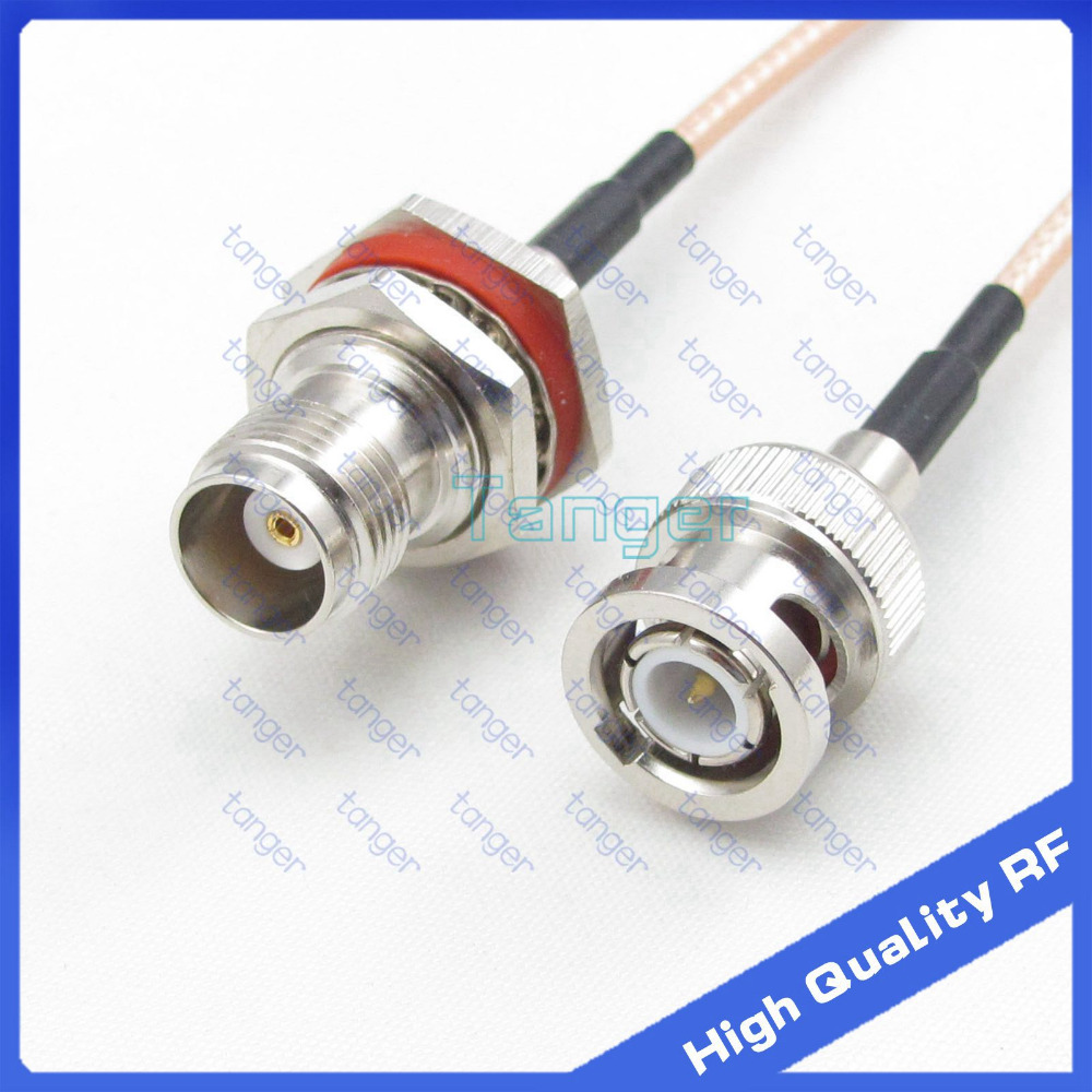 Hot Selling TNC female jack to BNC male plug straight with 8 20cm 8inch RG316 RF Coaxial Pigtail Low Loss cable High Quality sale 10 pcs adapter bnc female jack to tnc male plug rf connector straight wire connector ptfe high quality minijack plug