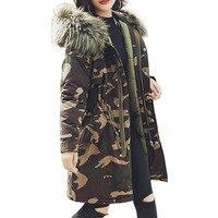 Lisli Womens Parkas Camouflage Jackets Warm Winter Parkas Coats Faux Fur Lined Overcoats 01L0189