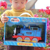 EFHH Zabawki Thomas Małe Lokomotywy Elektryczne Uniwersalny Car Track Oświetlenie Muzyka Dzieci Plastikowe Zabawki Chłopca Prezent Drop Shipping