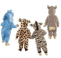 Free Shipping Leopard Zebra Baby Rompers Cute Fleece Toddler Jumpsuits Baby Bodysuits Retail