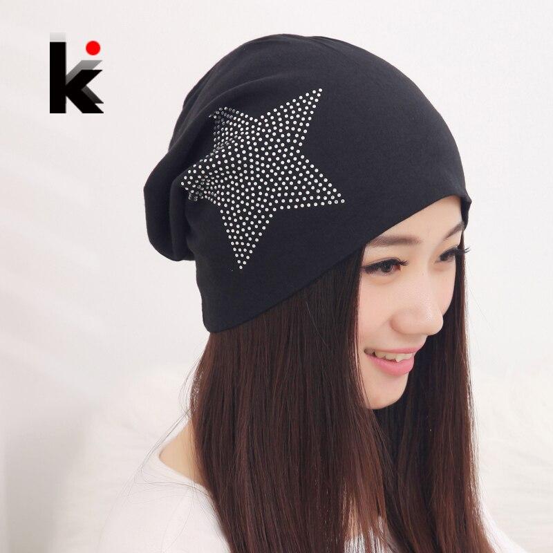 Free shipping autumn and winter beanies diamond turban Pentacle cap skullies hip-hop stocking hat for women men bonnet  4 colors