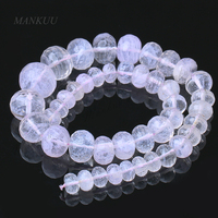 XYCAGB028 1 Strand 40cm Transparent Natural Rose Quartz Abacus Beads DIY Jewelry Finding Round Shape Crystal