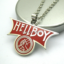 2015 Pendant Necklace Hellboy metal Gift New Unisex Trendy Movie Jewelry Wholesale