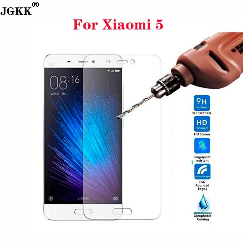 JGKK Марка Закаленное стекло Для Xiaomi Mi5 Экрана Протектор Для Xiomi Mi 5 M5 9 h 0.3 мм Ультра Тонкий Экран Защитную фильм