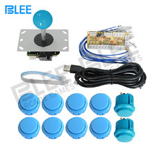 Arcade Joystick DIY Kit Zero Delay Game USB Encoder PC Joystick Computer Game+8 Arcade Button for Mame Jamma+Wire Harness(China)