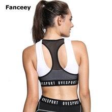 Sexy Backless Sports Bra Top Fitness Bras Women Strappy Brassiere Sports Top Vest Gym Padded Yoga Bras Push up Running Underwear