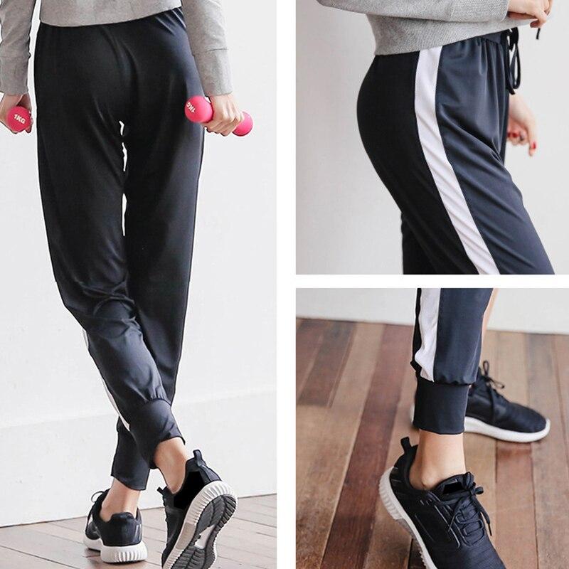 e50bf13eb4a RealLion Plus Size Loose Sport Pants Women High Waist Wide Leg Flare Pants  Broad Leg Fitness Yoga Pants Women Trousers S 2XL-in Yoga Pants from Sports  ...