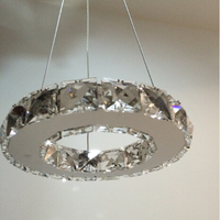 New Arrival LED Crystal Chandelier Light, Diamond Crystal Pendant Lamp Fast Shipping Diamond Ring Lamp for pendant