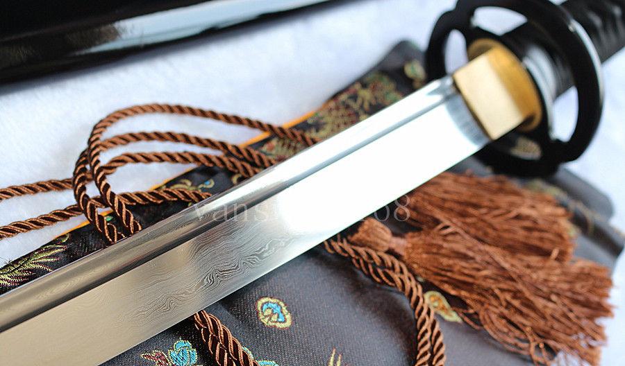 əl saxta damask polad yapon samuray real qılınc katana iti - Ev dekoru - Fotoqrafiya 5