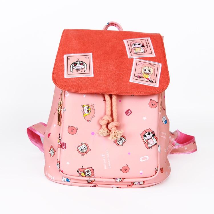 Japan anime Himouto! Umaru-chan Backpack School Bag Shoulder bag print girl pink backpack