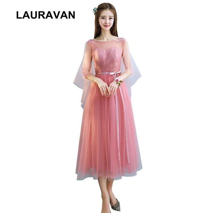 blush girls bridesmaids beautiful dress short tea ball gowns dusty pink  braid maids girls party dresses 27a5f24b3e89
