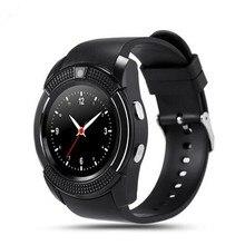 Neue perfekte v8 smart watch uhr mit sim tf slot bluetooth konnektivität für apple iphone android telefon smartwatch uhr