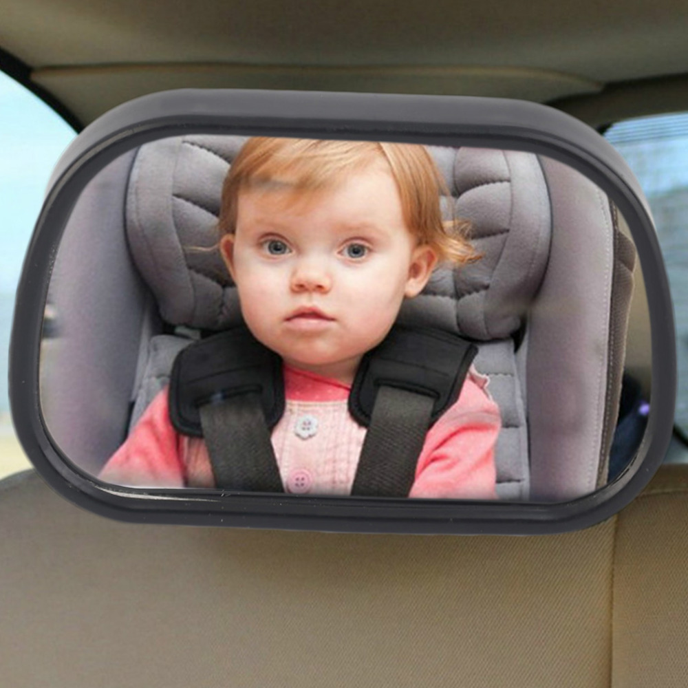 Tirol New Adjustable Car Back Seat Mirror Baby Facing Rear Ward View Headrest Mount Mirror Square Safety Baby Kids Monitor ...