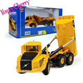 Happy Cherry 1:87 Scale Diecast Excavator Six-wheel Dumper Truck Diecast Model Construction Vehicle Pull Back Action Car Toys