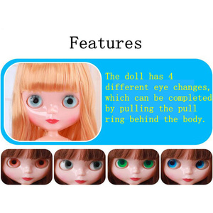 Image 3 - 30 cm Jointed BJD Poppen voor Meisje Mode Blyth Pop Kleur Haar DIY Make Naakt Pop Dress Up Speelgoed voor meisjes GIFT