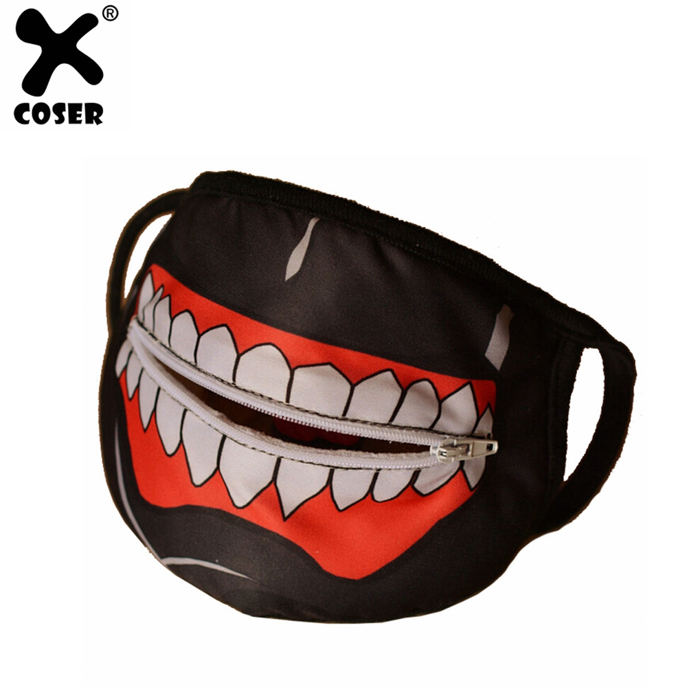 XCOSER Kaneki Mask Tokyo Ghoul Ken Kaneki Cosplay Mask With Zipper High Quality Mask Halloween Cosplay Prop For Mens