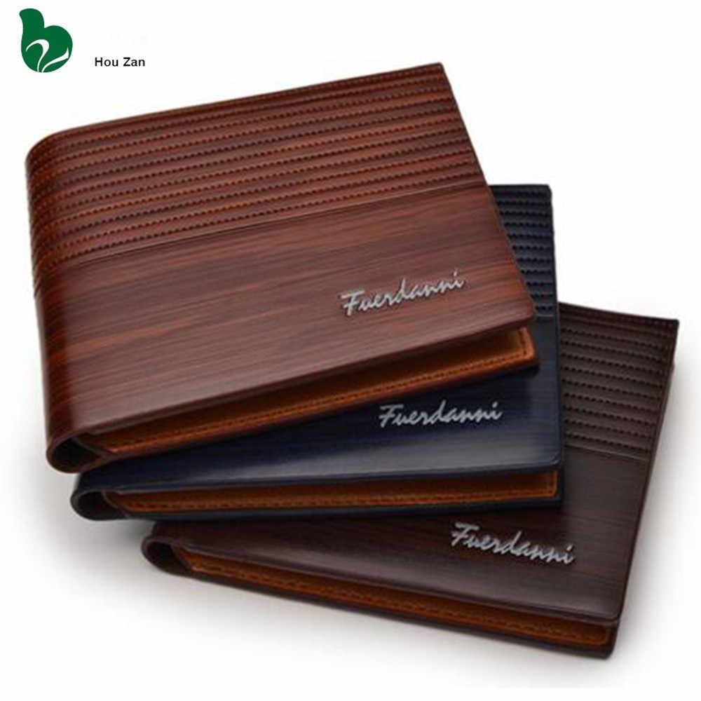 Мужской кошелек дизайнерский Известный люксовый бренд короткий кожаный мужской бумажник в винтажном стиле держатель для карт портфель Walet деньги бумажник карман Vallet