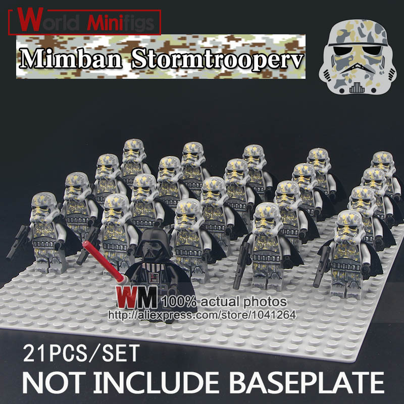 Model Building Charitable 21pcs/lot Darth Vader Camouflage Clone Trooper Stormtrooper Robot Army Group Action Figures Building Blocks Toys Children Gifts