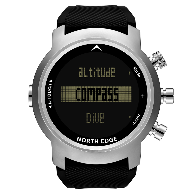NORTH EDGE Men Sport Watch Altimeter Barometer Compass Thermometer Pedometer Calorie Depth Gauge Digital Watch Diving Climbing - 2
