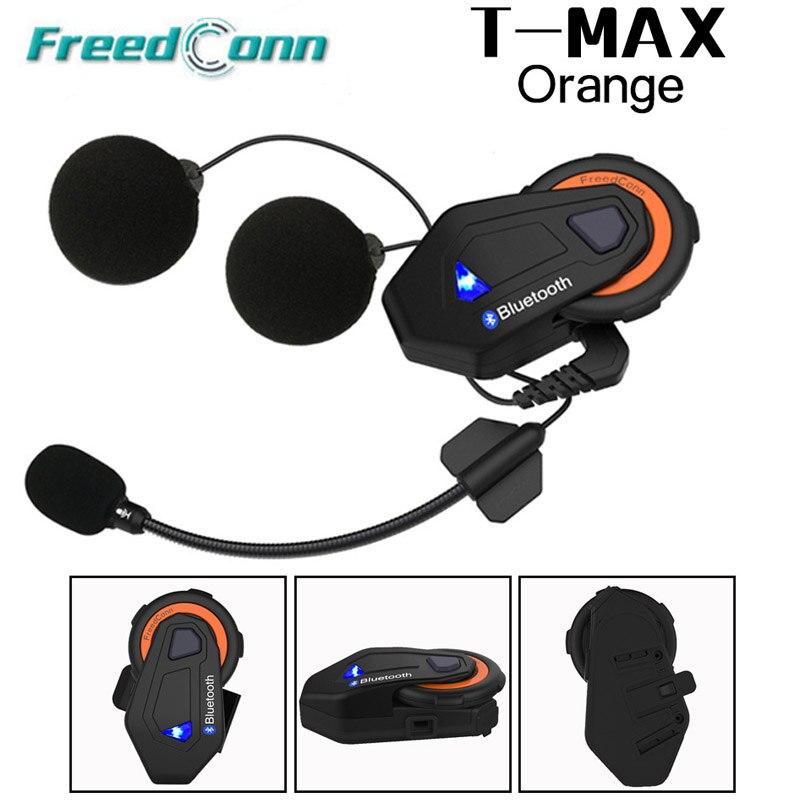Système de conversation de groupe de moto gratuconn t-max 1000 M 6 coureurs BT Interphone FM Radio Bluetooth 4.1 casque Interphone casque