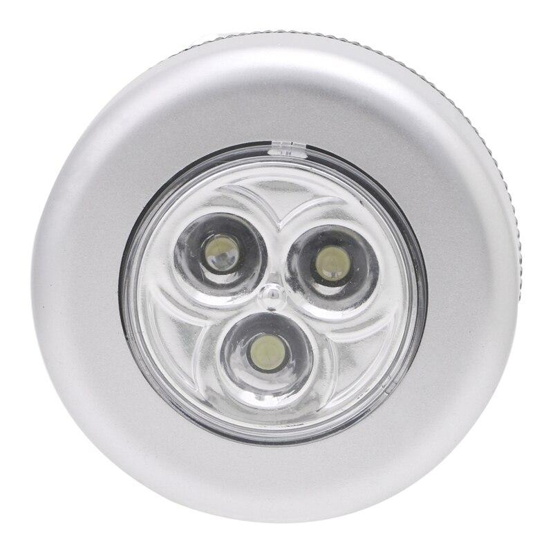 Ям 3 LED Light Touch Push лампа ночник автомобиль дома стены Кемпинг Батарея питание ...