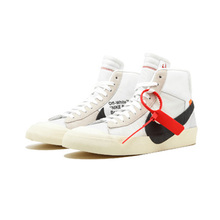 Original New Arrival Authentic OFF-White x Nike Blazer Mid Men's Skateboarding Shoes Sport Sneakers Good Quality
