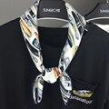 2 в 1 Новая Мода Корея Ткани Женщины квадратные шарфы 70*70 см Банданы Головные Уборы Дам Sjaal Хиджаб Foulards Брага Куэльо
