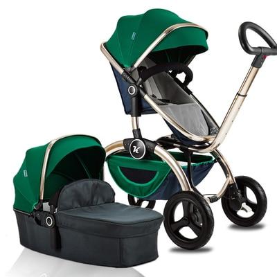 Stroller high landscape can sit can lie four-wheel shock basket pushchair