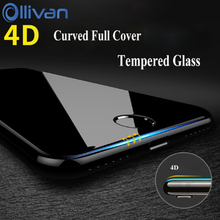 4D Tempered Glass For iPhone 8 7 Plus OLLIVAN Screen Protector for iphone 6 6s plus pelicula de vidro Glass Film For Iphone X 7