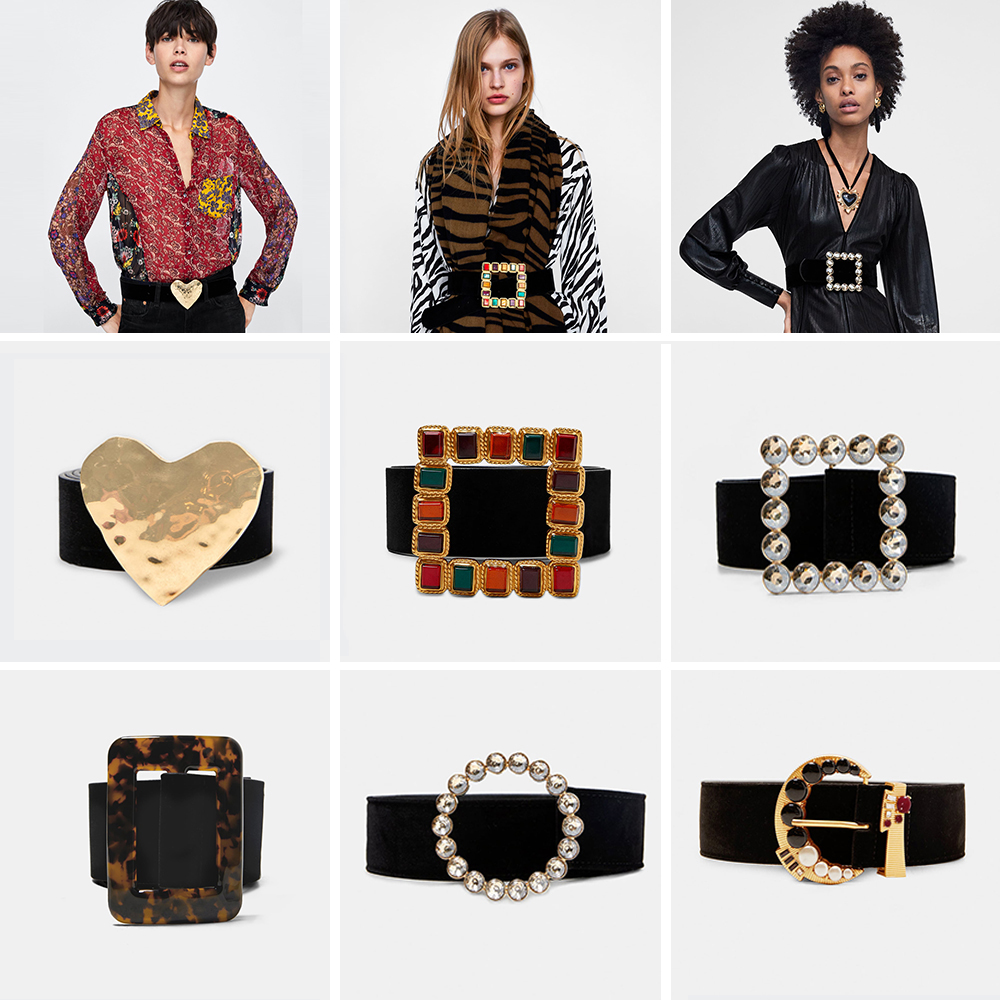 Girlgo 52 Designs Brand ZA Colorful Square   Belts   For Women Charm Maxi Heart Statement   Belt   Luxury Valentine Belly Chians Jewelry