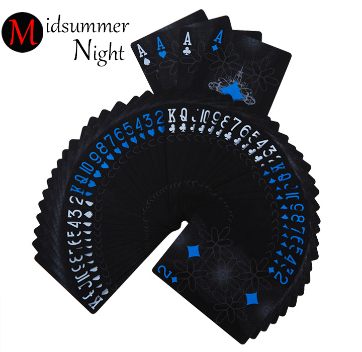 One Deck Black GHOST Poker mat Euros Style Plastic Poker Playing Cards Waterproof Cards Good Price Gambling Board game цена