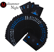 One Deck Black GHOST Poker mat Euros Style Plastic Poker Playing Cards Waterproof Cards Good Price Gambling Board game