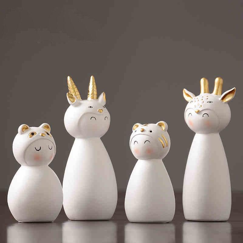Vent nordique résine petit Animal ornements salon bureau meuble TV accessoires artisanat cadeaux
