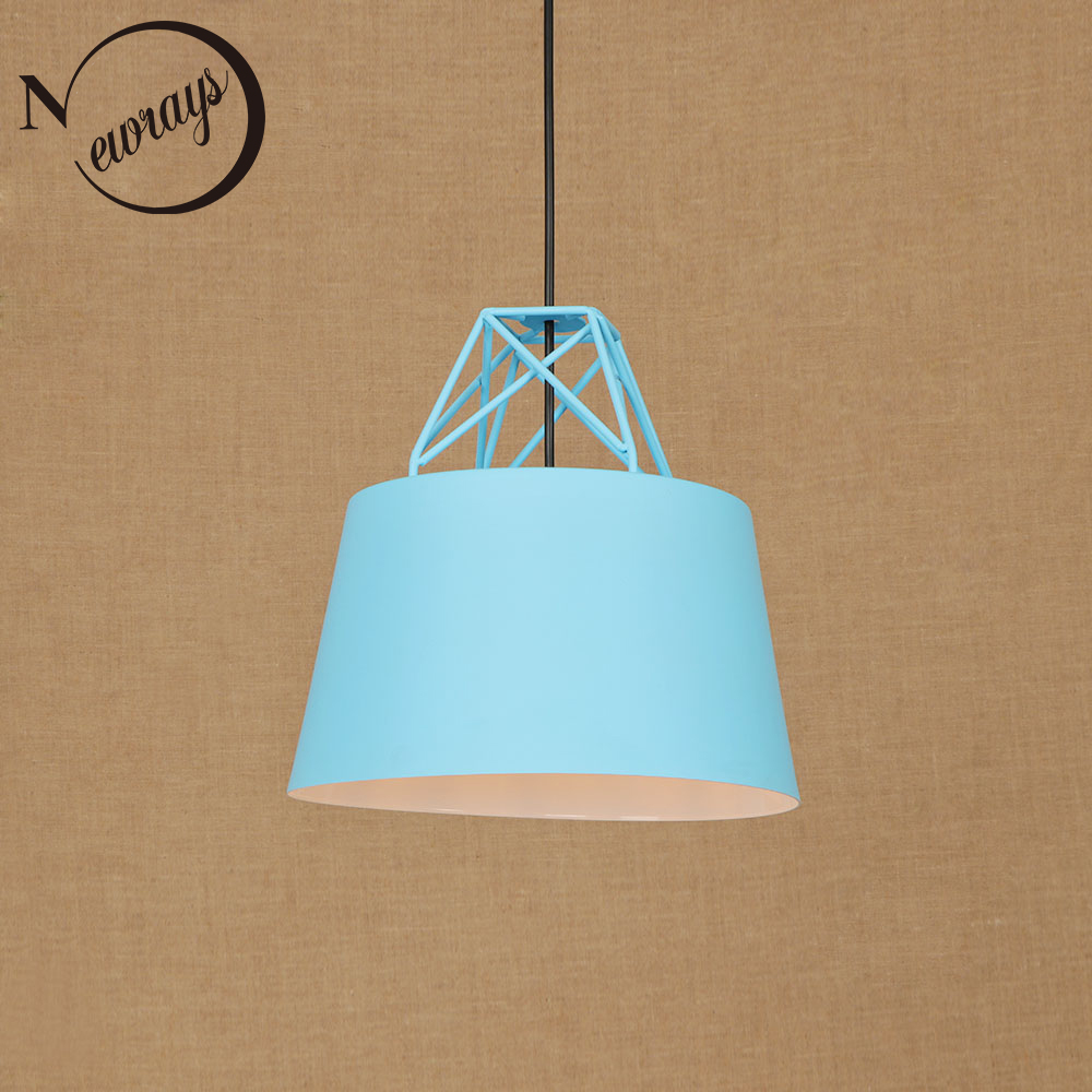 Loft modern pendant light LED E27 Nordic hanging lamp with 7 colors for dining room kitchen bedroom living room cafe hotel cafe nordic modern 10 arm pendant light creative led hanging lamps tube rod toolery for living room dining room lamp home decoration page 7