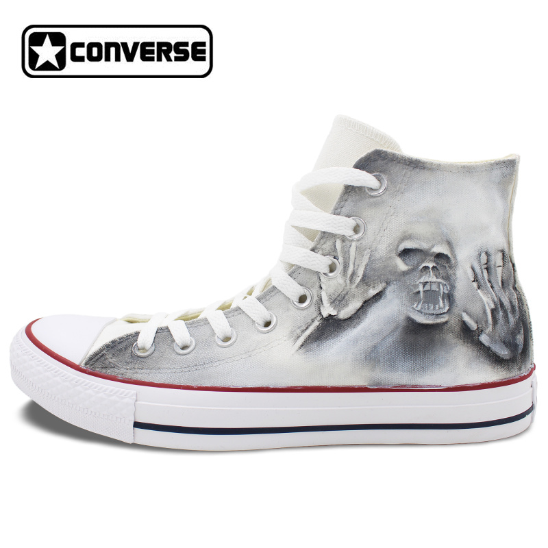 buy gray high top converse all star skull. Black Bedroom Furniture Sets. Home Design Ideas