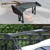 HB универсальные 3D JDM Реальные углеродного волокна гоночные задние/задние Спойлеры на багажник/крыло