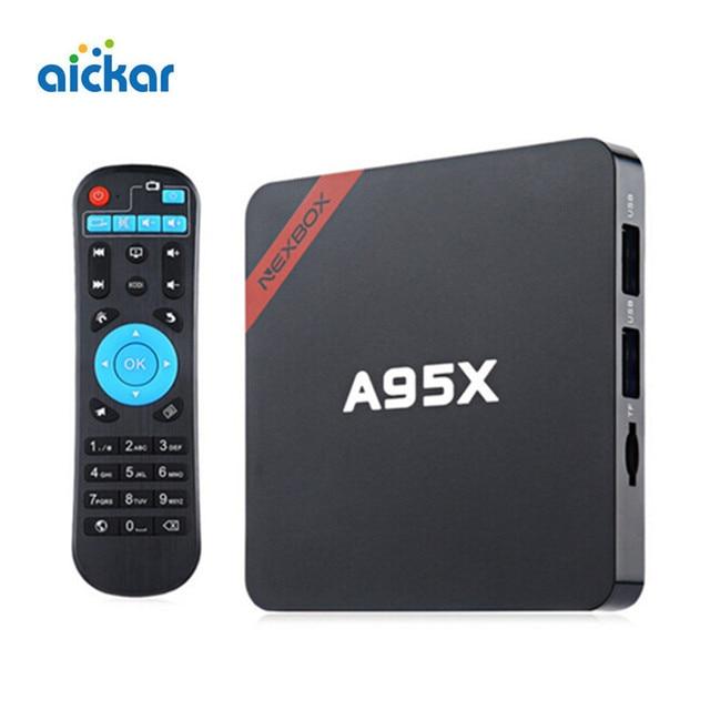 Hot Sale Nexbox A95X Android 6.0 TV Box Amlogic S905X Quad Core 1G/8G KODI WIFI 2.4G 4K*2K Smart TV Set Top Box Media Player