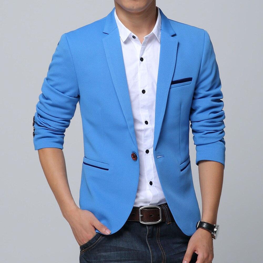 designer men Suit Jackets Autumn Slim blazer masculino casual ...