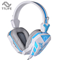 TTLIFE  Cosonic Top Stereo Gaming Headphones Earphone with Microphone Game Headset with Breathing Led Light for PC Gamer CD-618