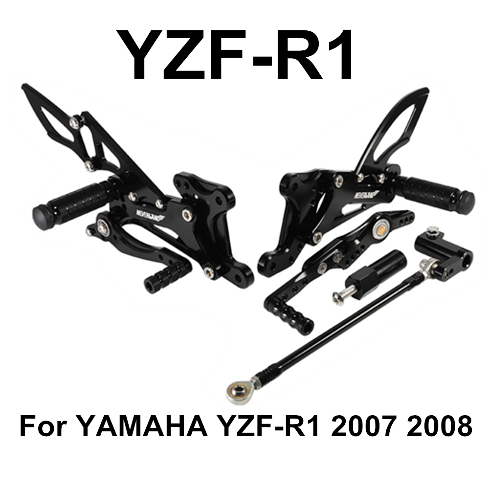YZF-R1 2007 2008 Motorcycle Motors Accessories Parts Foot Rests Rear Set Adjustable Foot Pegs Adjustable For Yamaha